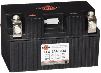 Shorai LFX19A4-BS12 Lithium Battery PowerGenixSystems