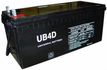 Universal Power Group - 12v 200ah Solar Power Battery PowerGenixSystems